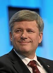 PM Harper can't believe his luck.