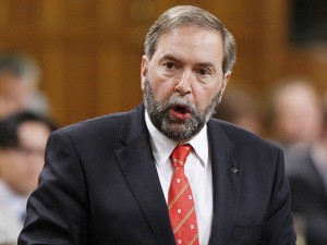 NDP Leader Tom Mulcair-My way or the Highway