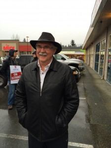 Bill Routley Supporting CNL Strikers