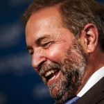 Thomas Mulcair smiling