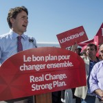 Liberal Leader Justin Trudeau addresses supporters during a campaign stop on Friday, Sept. 18, 2015, in Montreal. THE CANADIAN PRESS/Paul Chiasson