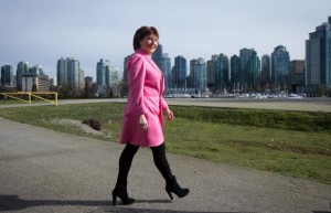 British Columbia Premier Christy Clark loves the Green Party.